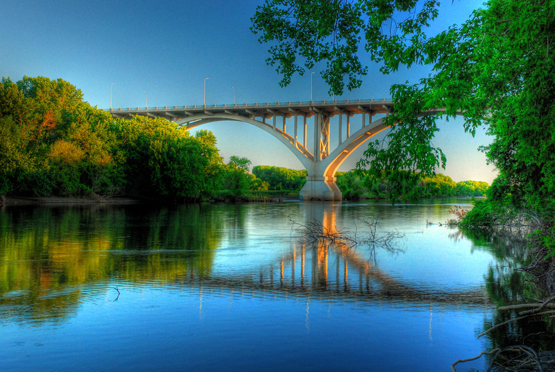 Reflections of the Mendota Bridge