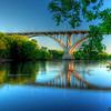 Reflections of the Mendota Bridge