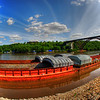 Barge on the Mississippi