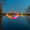 The Lowry Avenue Bridge Settled in on the Mississippi