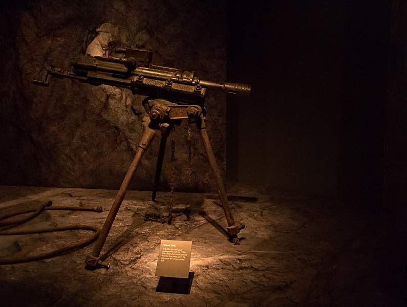 A drill that was used in the mine around the 1920's.