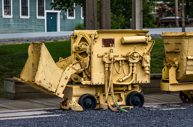 Some kind of machine in front of the Britannia Mine.