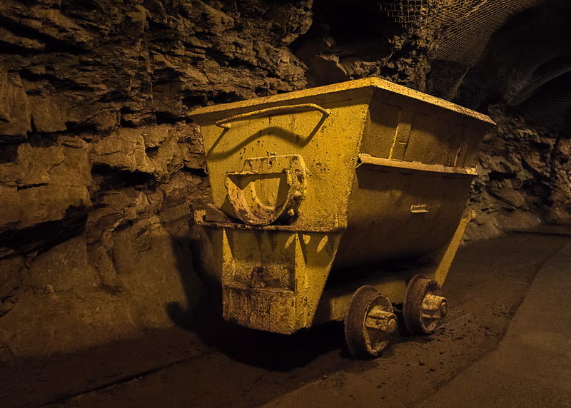 One of the cars used to transport the copper through the mine.