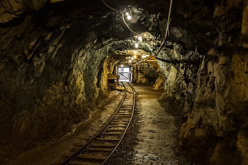 The track used to move the copper through the tunnels.
