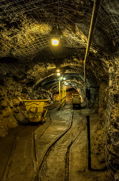 Another section of the tunnel in the mine.