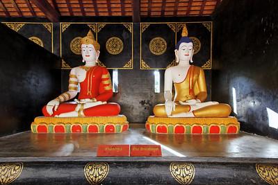 Buddhas, Wat Chedi Luang,  Chiang Mai,  Thailand