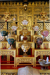 Buddha Heads in Temple