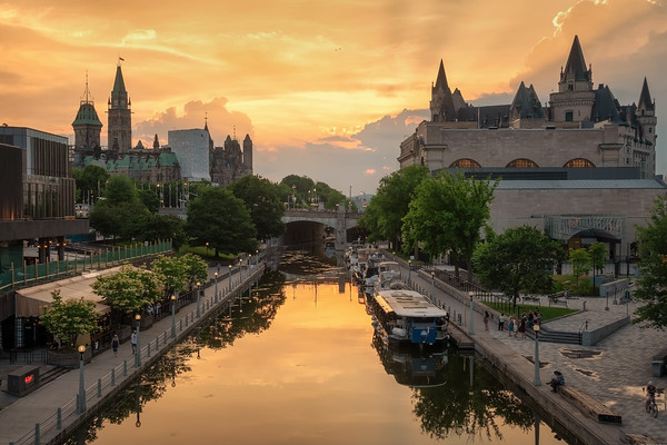 Beautiful sunset in Ottawa