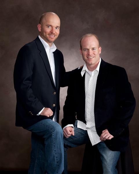 Business Partners, having their professional photos taken, hear in our studio, in Sandy, Utah.