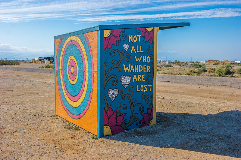 No, if you end up in Slab City, you're LOST!