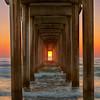 Scripps Pier at Sunset, La Jolla, CA