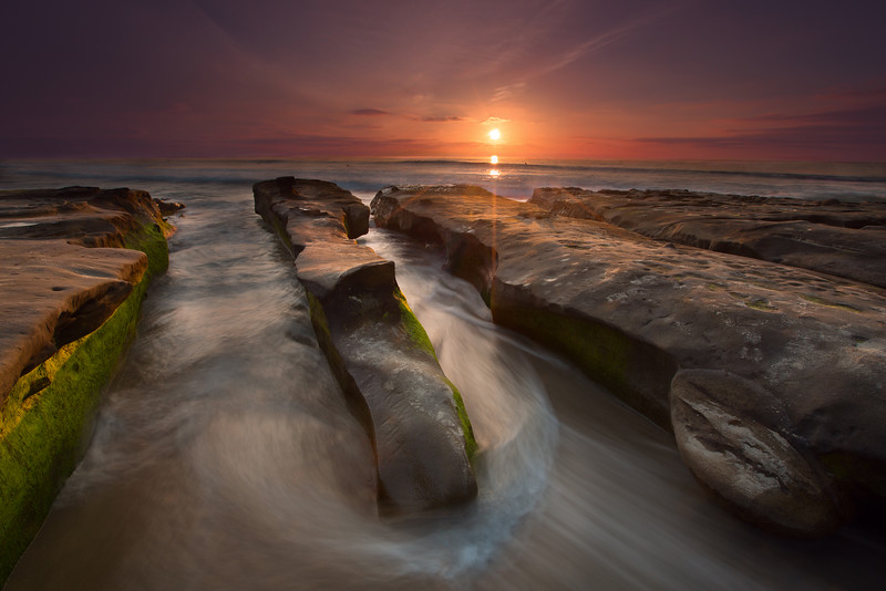 La Jolla Rock Jetties at Sunset
