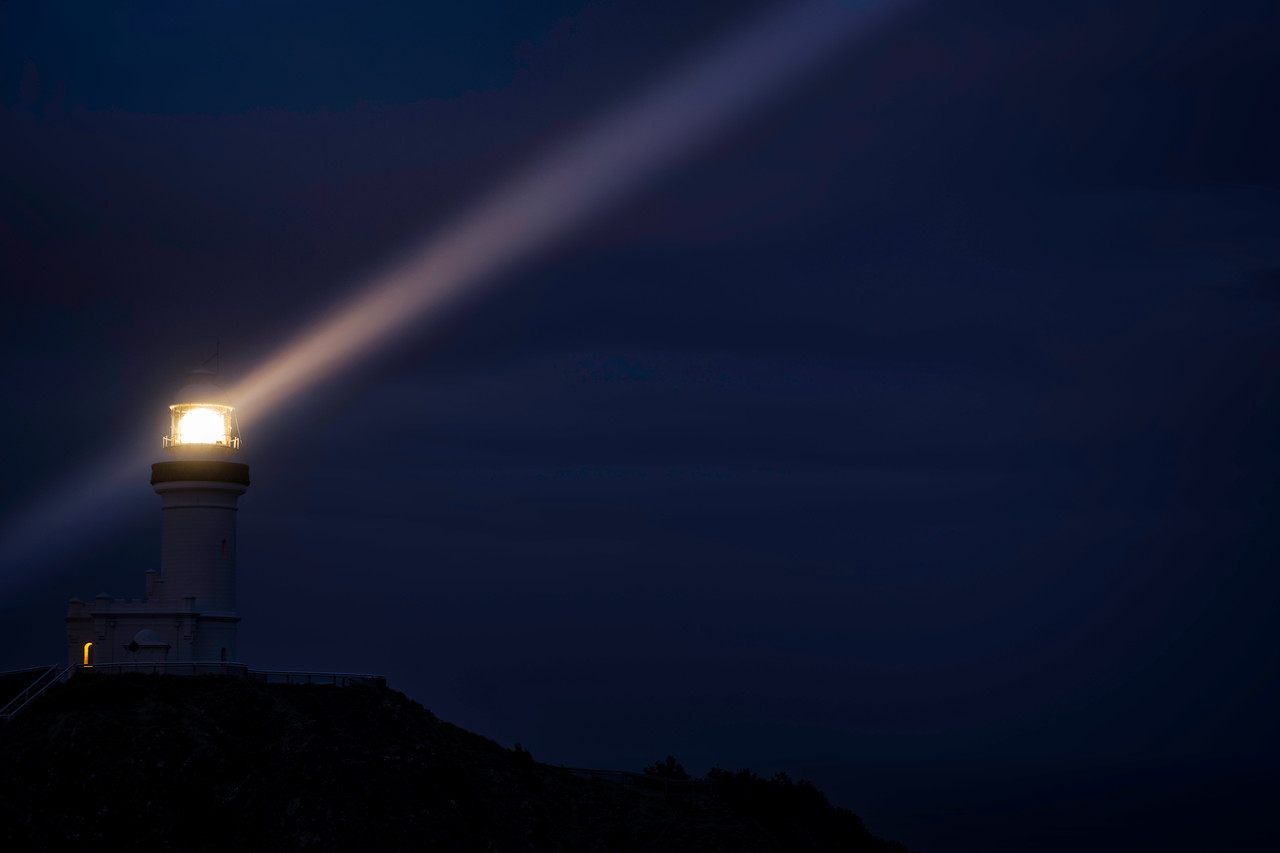 Byron Bay Lighthouse at Night