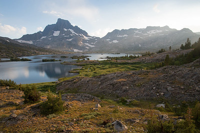 Thousand Island Lake in the Ansel Adams Wilderness after a thunderstorm.
