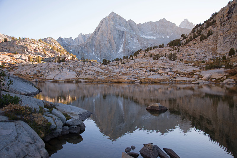 Classic Sierra high country deep in the John Muir Wilderness on a pleasant October evening.