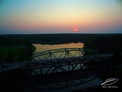 Three Rivers Bridge Sunset