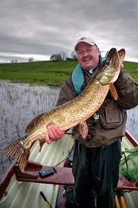 Pike fishing Upper Lough Erne Co Fermanagh
