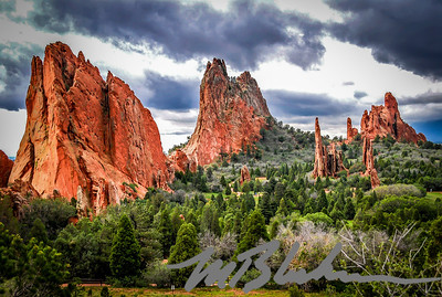 Classic View of the Garden of the Gods