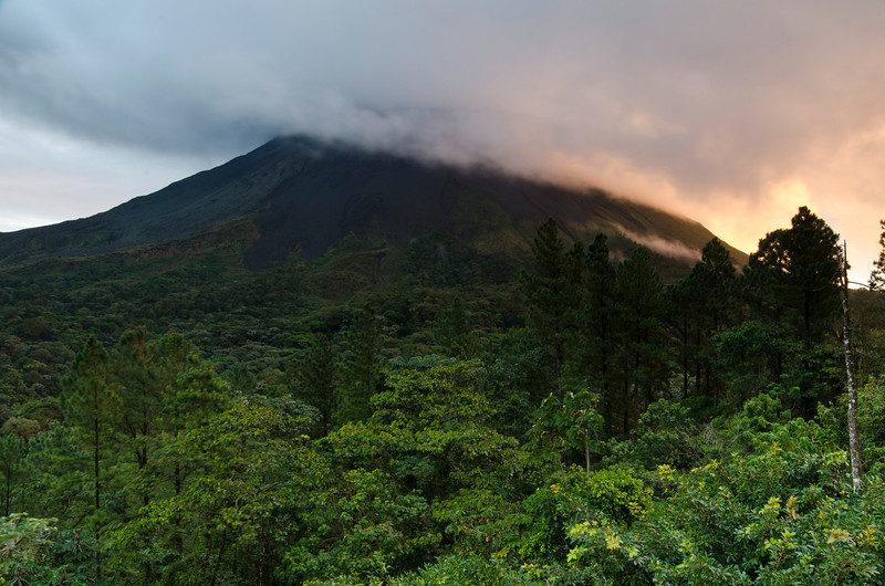 Arenal Volcano at sunrise