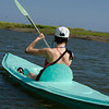 Jess Kayaking in a lagoon full of birds and the occasional crocodile in the Peninsula de Osa.