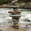 River Cairn along the Rio Pacuare River. We did 2 days of Rafting on this class 4 and 5 river.