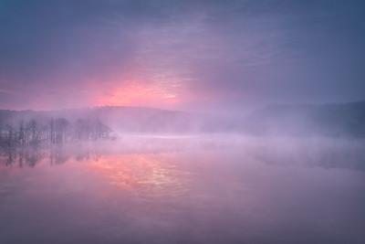 Foggy Sunrise No.1 Jordan Lake NC