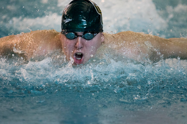 Clarkson Athletics: Men and Women swimming at UYNSCSA at Ithaca College.  Day 1 Prelims