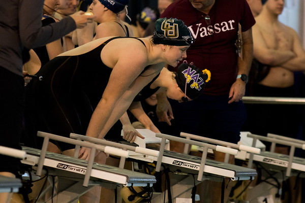 Clarkson Athletics: Men and Women swimming at UYNSCSA at Ithaca College.  Day 2 Prelims