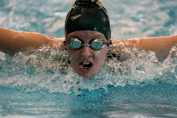 Clarkson Athletics: Men and Women swimming at UYNSCSA at Ithaca College.  Day 3 Prelims
