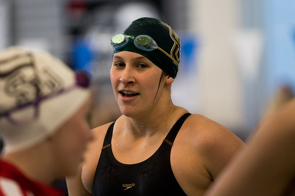 Clarkson Athletics: Men and Women swimming at UYNSCSA at Ithaca College.  Day 4 Prelims