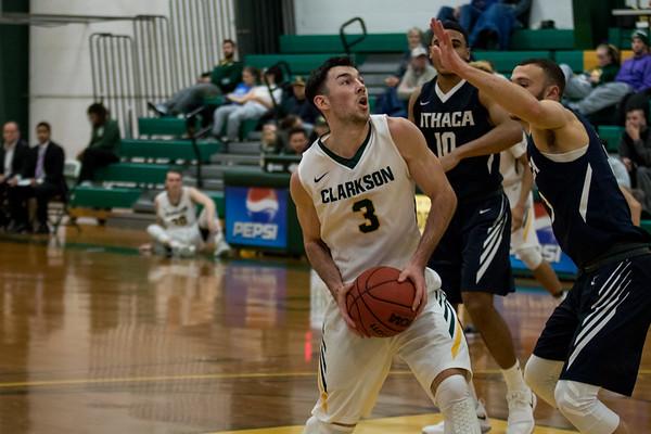 Clarkson Athletics: Men basketball vs Ithaca. Clarkson win 85 to 72