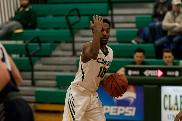 Clarkson Athletics: Men basketball vs Ithaca. Clarkson win 85 to 72