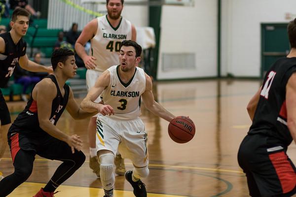 Clarkson Athletics: Men Basketball vs. RPI. Clarkson win 102 to 92.