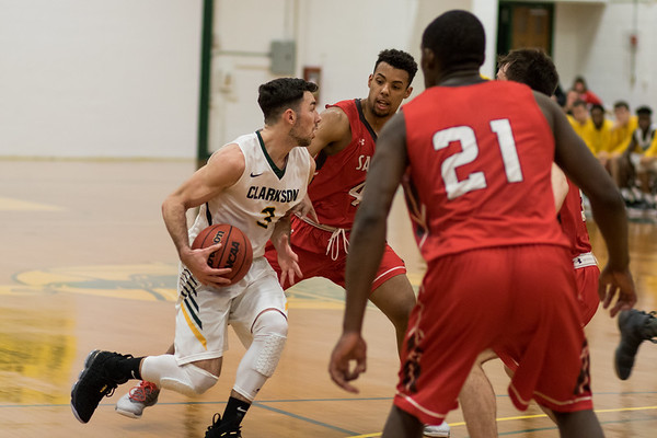 Clarkson Athletics: Men basketball vs St. Lawrence. Clarkson win 86 to 58