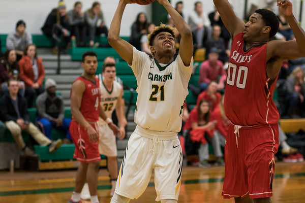 Clarkson Athletics: Men basketball vs St. Lawrence. Clarkson win 86 to 58