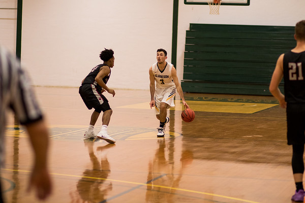 Clarkson Athletics: Men Basketball vs. Potsdam College. Clarkson win 78 to 71