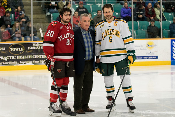 Clarkson Athletics: Men Hockey vs. St. Lawrence (SLU). Clarkson Win 3 to 1