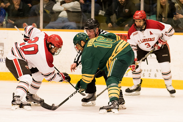 Clarkson Athletics: Men Hockey home vs. St. Lawrence. Win 3 to 1. COLD OUT GOLD OUT