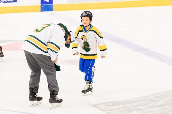 Clarkson Athletics: Men Hockey skate with a knight