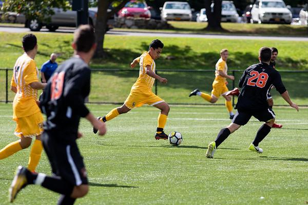 Clarkson Athletics: Men Soccer vs RIT. Clarkson win 1 to 0.