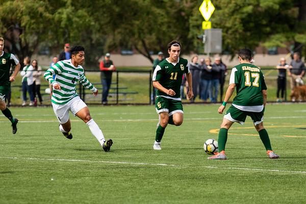 Clarkson Men's Soccer vs. Sage Colleges. Clarkson win 3 to 1.