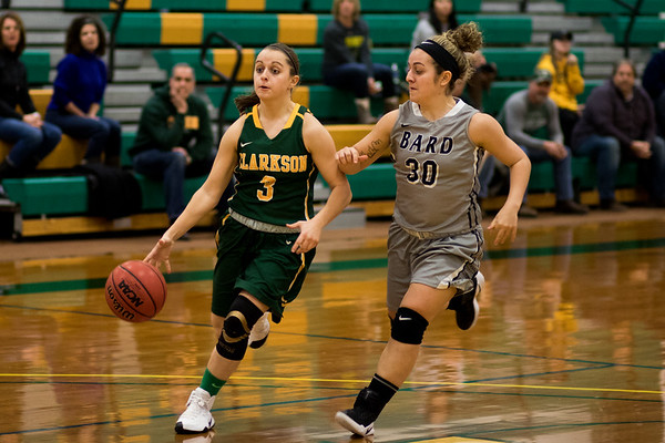 Clarkson Athletics: Women Basketball vs. Bard. Clarkson win 76-46