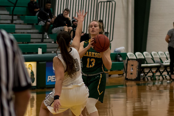 Clarkson Athletics: Women Basketball vs. Bard. Clarkson win 69 to 56