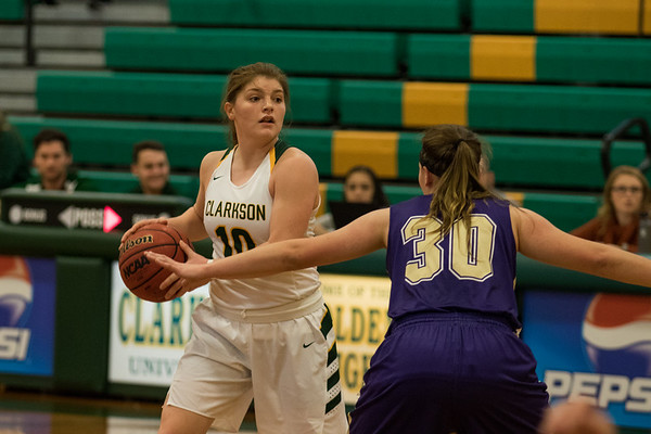 Clarkson Athletics: Women Basketball vs. Houghton. Clarkson win 71 to 67