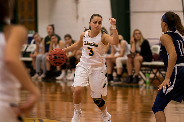Clarkson Athletics: Women Basketball vs. Middlebury College. Clarkson lose 53 to 49