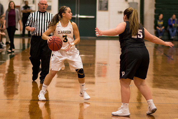 Clarkson Athletics: Women Basketball vs. Potsdam College. Clarkson win 69 to 54