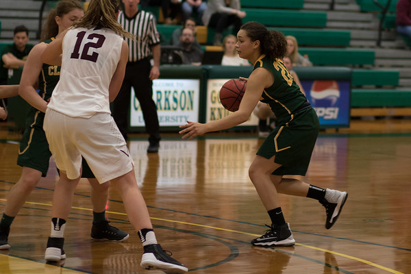 Clarkson Athletics: Women basketball vs Union. Clarkson win 76 to 39