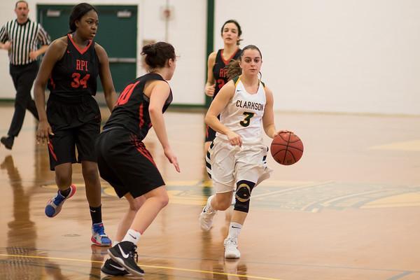 Clarkson Athletics: Women Basketball vs. RPI. Clarkson win 66 to 58.