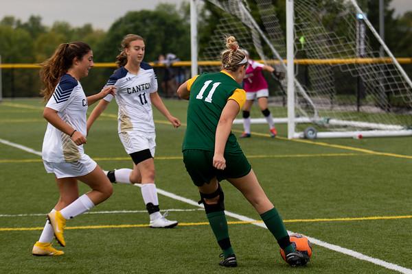 Clarkson Women Soccer at SUNY Canton. Clarkson win 3 to 0.