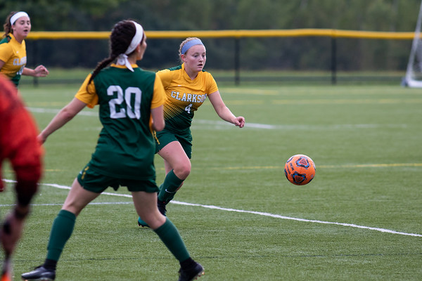 Clarkson Women Soccer at SUNY Canton. Clarkson win 3 to 0.